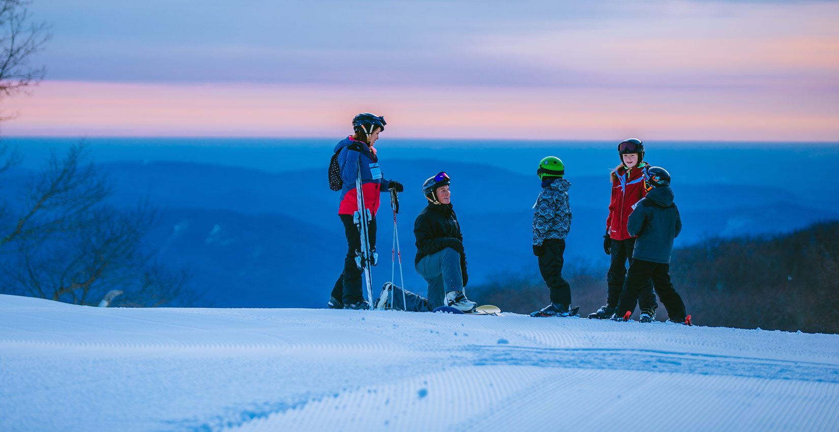 family ski vacation in the blue ridge mountains at wintergreen resort
