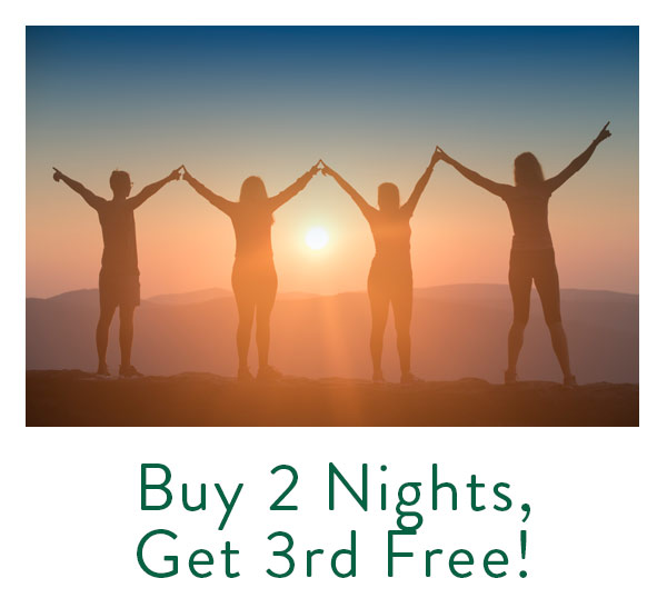 Buy 2 nights, get the 3rd night free special offer