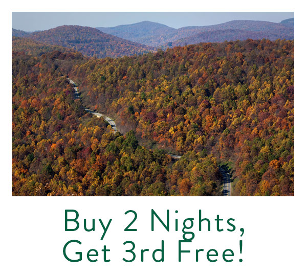 Buy 2 Nights, Get 3rd Free at Wintergreen Resort