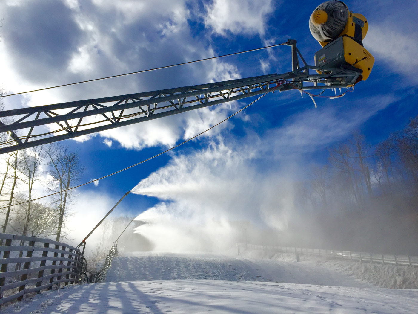 snowmaking picture from december 8, 2016