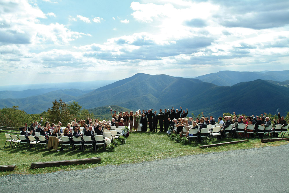 wedding at the overlook
