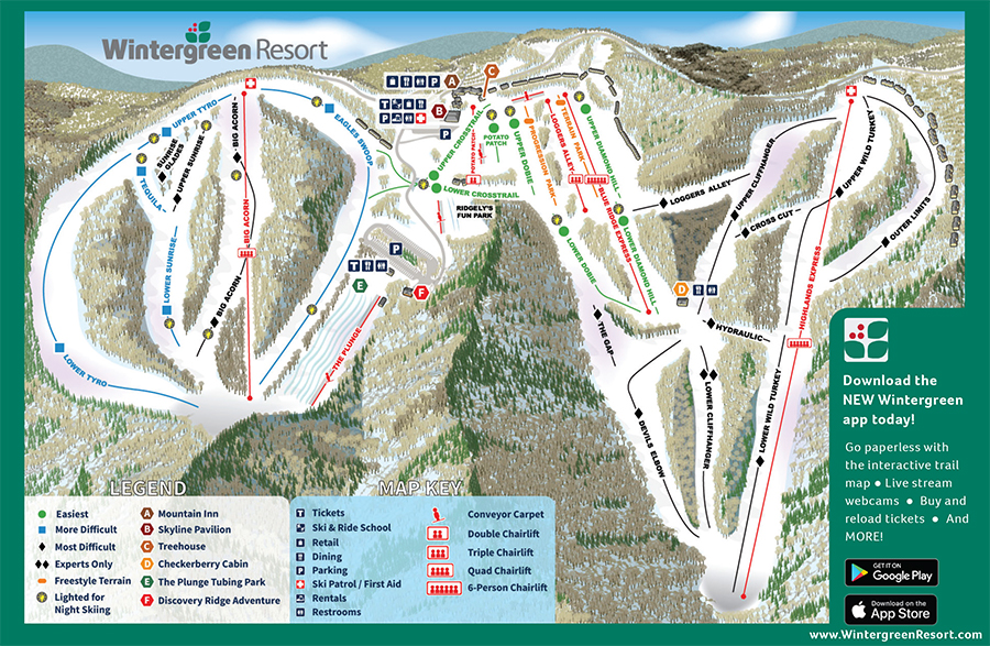 wintergreen-trail-map